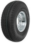 "Kenda 5.70-8 Bias Trailer Tire with 8"" Galvanized Wheel - 5 on 4-1/2 - Load Range B"