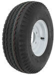 "Kenda 5.70-8 Bias Trailer Tire with 8"" White Wheel - 5 on 4-1/2 - Load Range C"