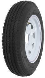 "Kenda 4.80-12 Bias Trailer Tire with 12"" White Wheel - 4 on 4 - Load Range C"