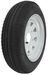 "Kenda 4.80-12 Bias Trailer Tire with 12"" White Wheel - 5 on 4-1/2 - Load Range C"