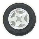 "Kenda 4.80-12 Bias Trailer Tire with 12"" Aluminum Wheel - 4 on 4 - Load Range C"