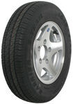 "Kenda KR25 ST145R12 Radial Trailer Tire with 12"" Aluminum Wheel - 5 on 4-1/2 - Load Range D"