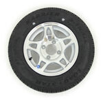 "Kenda KR25 Radial Trailer Tire with 12"" Aluminum HWT Wheel - 4 on 4 - Load Range D"