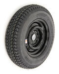 "Loadstar ST175/80D13 Bias Trailer Tire with 13"" Black Wheel - 5 on 4-1/2 - Load Range D"