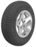 "Loadstar ST175/80D13 Bias Trailer Tire with 13"" Aluminum Wheel - 5 on 4-1/2 - Load Range D"