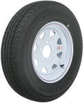 "Karrier ST175/80R13 Radial Trailer Tire with 13"" White Wheel - 5 on 4-1/2 - Load Range D"
