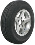 "Karrier ST175/80R13 Radial Trailer Tire with 13"" Aluminum Wheel - 5 on 4-1/2 - Load Range D"
