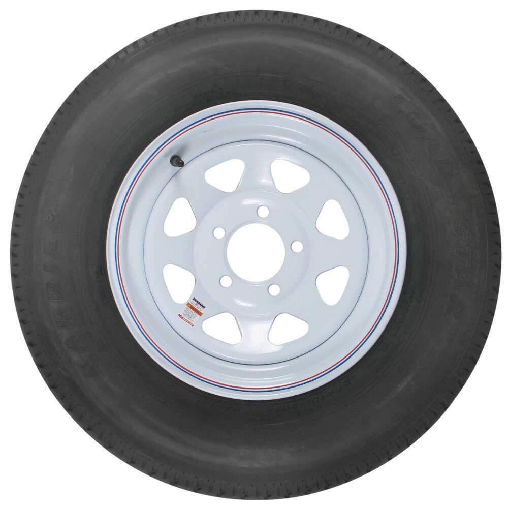 karrier st205 75r14 radial trailer tire with 14 white wheel 5 on 4 1 2 load range c kenda. Black Bedroom Furniture Sets. Home Design Ideas