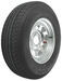 "Karrier ST215/75R14 Radial Trailer Tire with 14"" Galvanized Wheel - 5 on 4-1/2 - Load Range C"