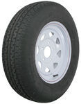 "Karrier ST205/75R15 Radial Trailer Tire with 15"" White Wheel - 5 on 5 - Load Range C"