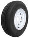 "Karrier ST225/75R15 Radial Trailer Tire with 15"" White Wheel - 5 on 4-1/2 - Load Range C"
