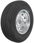 "Karrier ST225/75R15 Radial Trailer Tire with 15"" Galvanized Wheel - 5 on 4-1/2 - Load Range C"