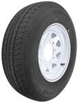 "Karrier ST225/75R15 Radial Trailer Tire with 15"" White Wheel - 8 on 6-1/2 - Load Range D"