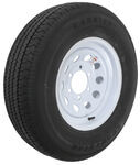 "Karrier ST225/75R15 Radial Trailer Tire with 15"" Modular White Wheel - 6 on 5-1/2 - Load Range"