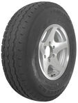 "Karrier ST235/85R16 Radial Trailer Tire with 16"" Aluminum Wheel - 6 on 5-1/2 - Load Range E"