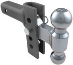 "EZ Hitch Adjustable, Steel Ball Mount Kit w/ 2 Hitch Balls - 4"" Drop or Rise - 10,000 lbs"
