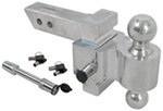 "Rapid Hitch Adjustable, Locking, Aluminum Ball Mount Kit w/ 2 Chrome Balls - 3-1/2"" Drop"