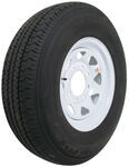 "Karrier ST235/80R16 Radial Trailer Tire with 16"" White Wheel - 8 on 6-1/2 - Load Range E"