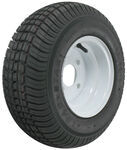 "Kenda 165/65-8 Bias Trailer Tire with 8"" White Wheel - 4 on 4 - Load Range C"