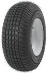 "Kenda 165/65-8 Bias Trailer Tire with 8"" White Wheel - 5 on 4-1/2 - Load Range C"