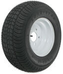 "Kenda 205/65-10 Bias Trailer Tire with 10"" White Wheel - 5 on 4-1/2 - Load Range B"