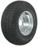"Kenda 205/65-10 Bias Trailer Tire with 10"" Galvanized Wheel - 5 on 4-1/2 - Load Range B"