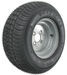 "Kenda 205/65-10 Bias Trailer Tire with 10"" Galvanized Wheel - 4 on 4 - Load Range C"