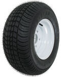 "Kenda 205/65-10 Bias Trailer Tire with 10"" White Wheel - 5 on 4-1/2 - Load Range C"