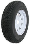 "Loadstar ST175/80D13 Bias Trailer Tire with 13"" White Wheel - 4 on 4 - Load Range B"