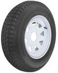 "Loadstar ST175/80D13 Bias Trailer Tire with 13"" White Wheel - 5 on 4-1/2 - Load Range B"