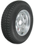 "Loadstar ST175/80D13 Bias Trailer Tire with 13"" Galvanized Wheel - 4 on 4 - Load Range C"