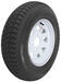 "Loadstar ST185/80D13 Bias Trailer Tire with 13"" White Wheel - 5 on 4-1/2 - Load Range D"