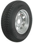 "Loadstar ST205/75D14 Bias Trailer Tire with 14"" Galvanized Wheel - 5 on 4-1/2 - Load Range B"