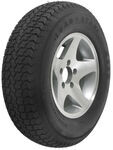 "Loadstar ST215/75D14 Bias Trailer Tire with 14"" Aluminum Wheel - 5 on 4-1/2 - Load Range C"