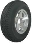 "Loadstar ST225/75D15 Bias Trailer Tire with 15"" Aluminum Wheel - 6 on 5-1/2 - Load Range D"