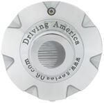 "Americana Trailer Wheel Center Cap - Chrome - 3.19"" Pilot"