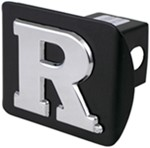 "Rutgers 2"" Trailer Hitch Receiver Cover - Chrome Logo"