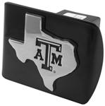 "Texas A&M University Chrome Logo and State Emblem 2"" Hitch Cover"