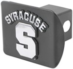 "Syracuse 2"" Trailer Hitch Receiver Cover - Chrome Logo"