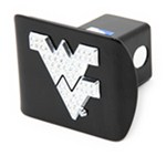 "West Virginia University Mountaineers Crystal Emblem 2"" Trailer Hitch Receiver Cover"