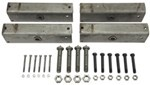 "Triple-Axle Trailer Equalizer Kit for 2"" Slipper Springs - 13-1/8"" Long Equalizers"