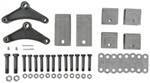 "Tandem-Axle Trailer Hanger Kit for Double-Eye Springs - 2-1/2"" Front/Rear, 5-7/16"" Center"