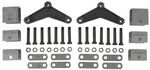 "Tandem-Axle Trailer Hanger Kit for Double-Eye Springs - 1-1/2"" Front/Rear, 2-1/2"" Center"