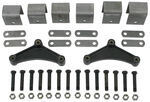 "Tandem-Axle Trailer Hanger Kit for Double-Eye Springs - 2-1/2"" Front/Rear, 3-1/4"" Center"