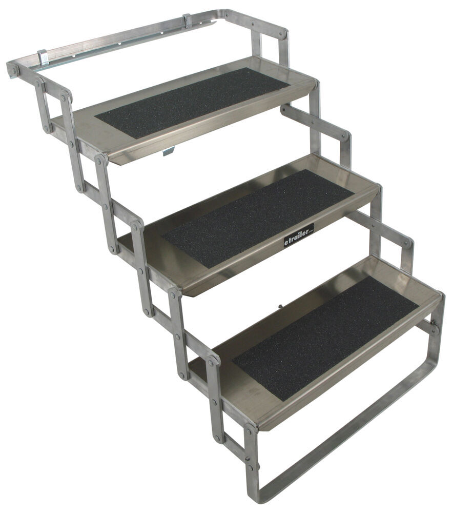 Trailer parts stairs and steps steps scissor step 3 steps 24 inch wide