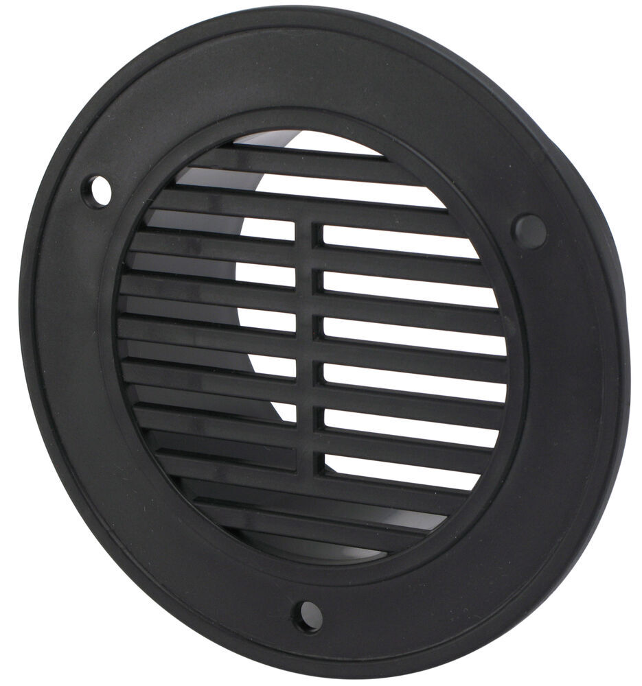 """Replacement Round Interior Trailer Vent for 3"""" Diameter Hole - Black Redline Accessories and"""