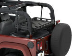 Bestop HighRock 4x4 Lower Cargo Rack Bracket with Universal Rack Tray, 2003+ Jeep