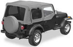 Bestop Replace-A-Top for Jeep - Charcoal - Tinted Windows, Half Door Skins (Untinted)