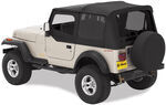 Bestop Replace-A-Top for Jeep - Black Denim - Tinted Windows, Half Door Skins (Untinted)