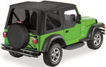 Bestop Replace-A-Top for Jeep - Black Diamond - Tinted Windows, Half Door Skins (Untinted)